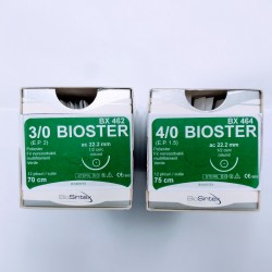 Игла с конец - зелен полиестер - BIOSTER - 3/0 , 4/0